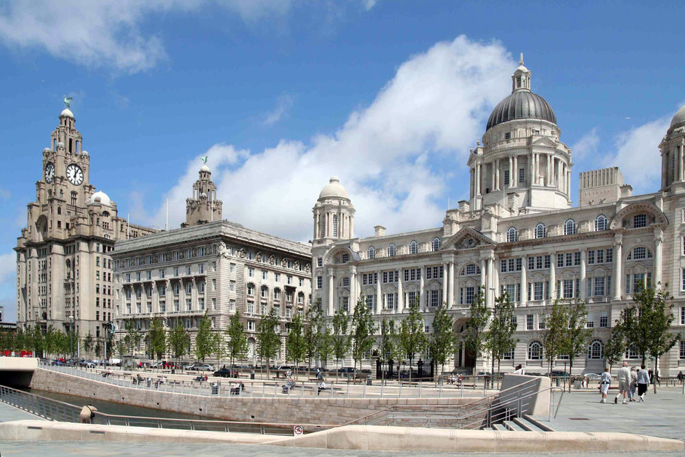 Three Graces at the Liverpool Pier Head