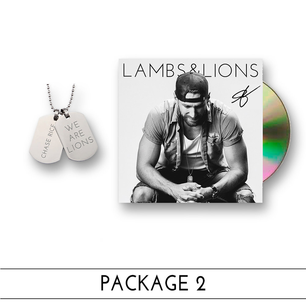 $19.99 W/ FREE US SHIPPING: AUTOGRAPHED CD + WE ARE LIONS DOG TAGS