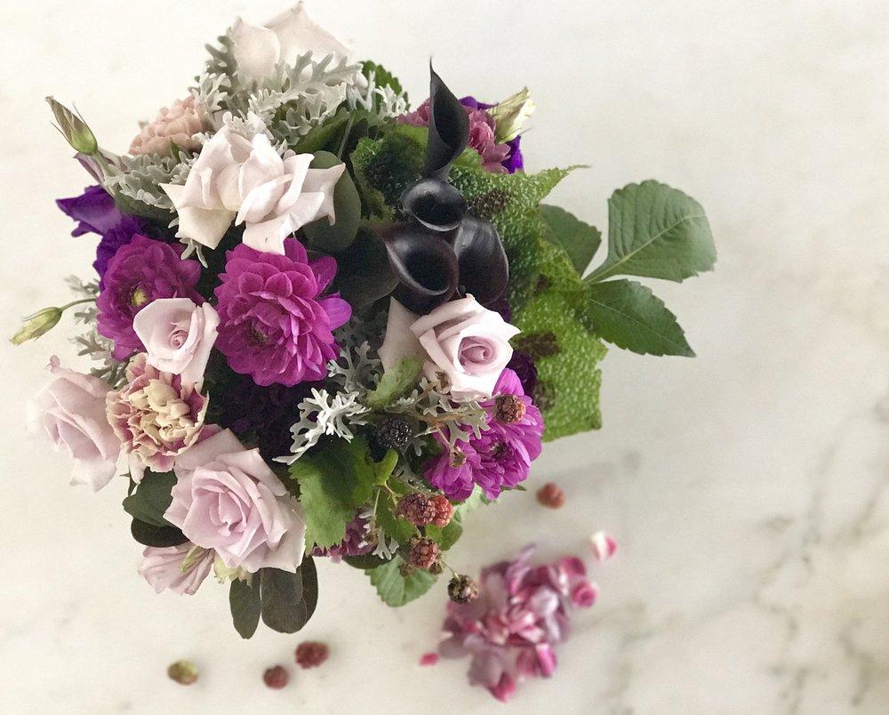 cool- lavender & amethyst