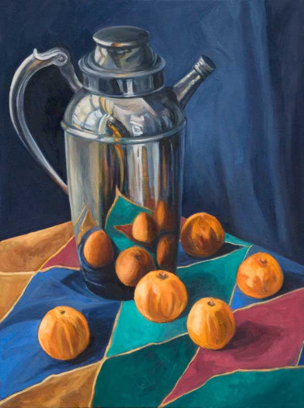 Pewter Pitcher and Clementines