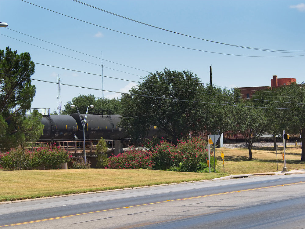 Dodge Jones Foundation is responsible for the beautiful trees along the railroad track in Abilene. Courtesy of Steve Butman Photography.
