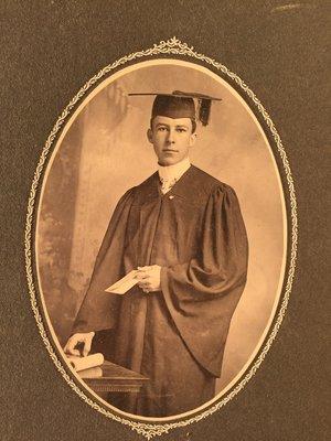 Swenson at his college graduation