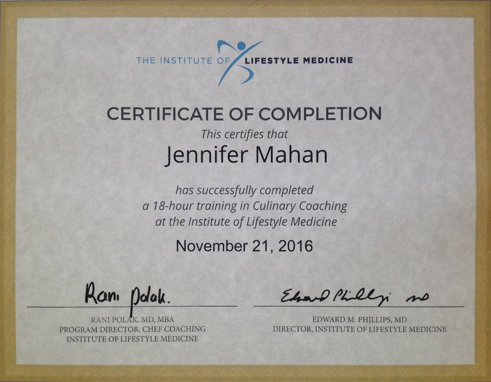 CHEF Coaching Certificate