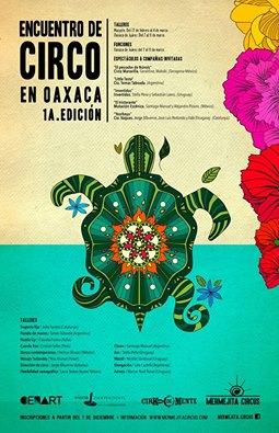 "Afiche del ""Festival de circo de Oaxaca"", Mexico 2017"