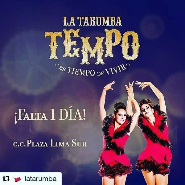 """Locandina dello spettacolo """"Tempo"""", Perú 2016"""