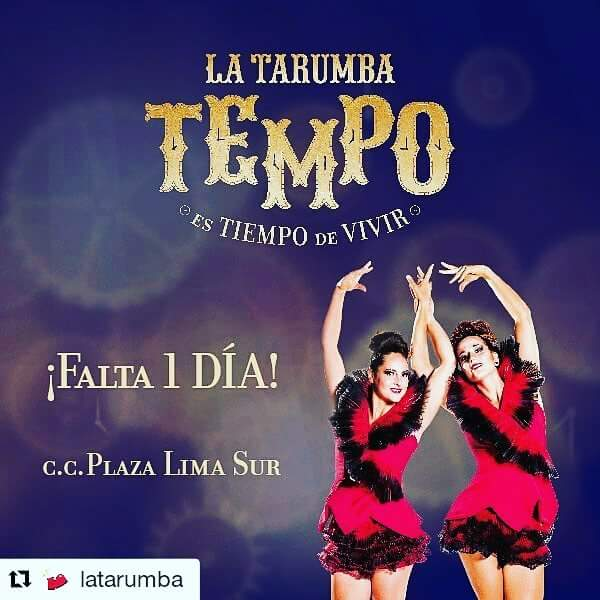 "Afiche del espectaculo ""Tempo"", Perú 2016"