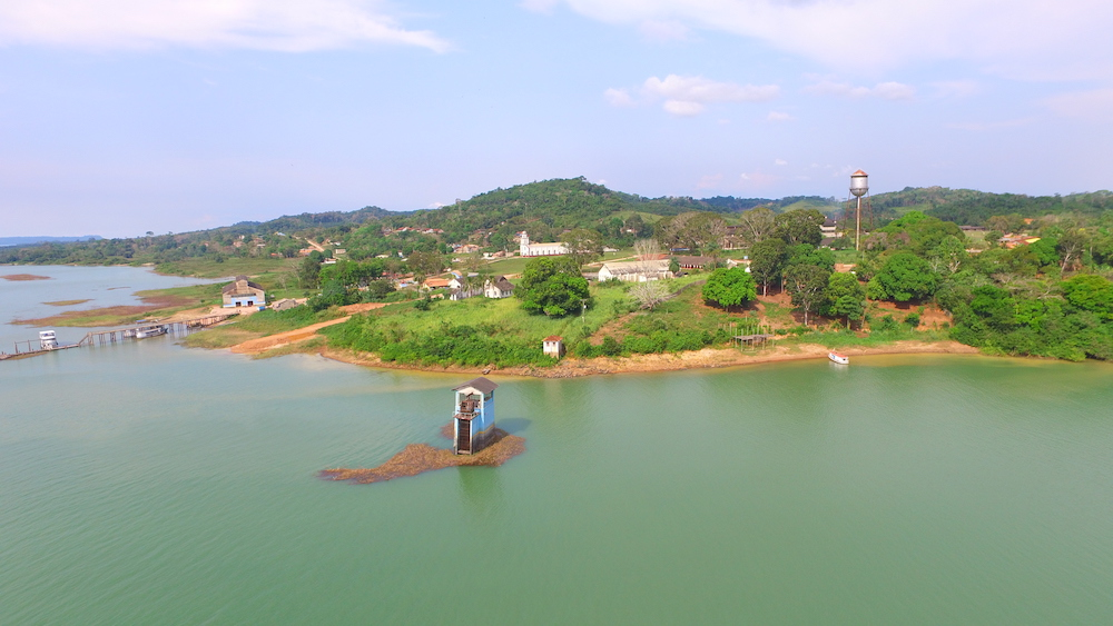 A panoramic view of Fordlandia from the Tapajós River