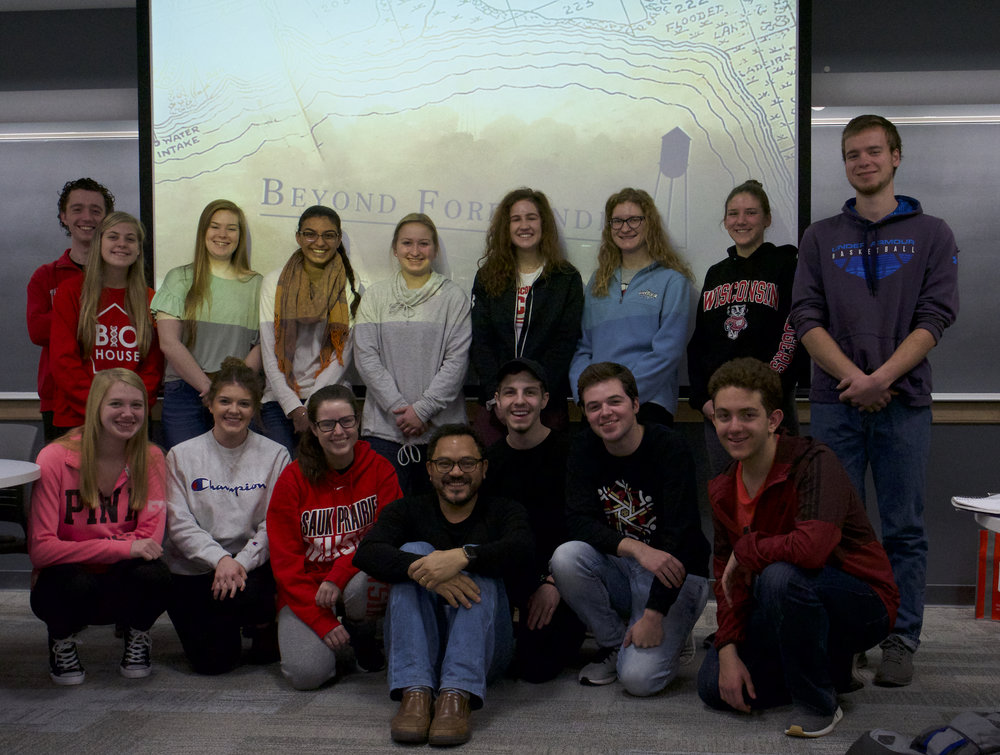 Students from Spanish 226 at the UW-Madison, Fall 2018.