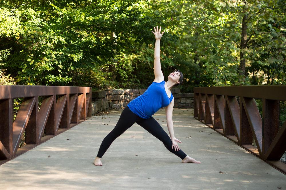 Annie Clapper Yoga Bentonville triangle