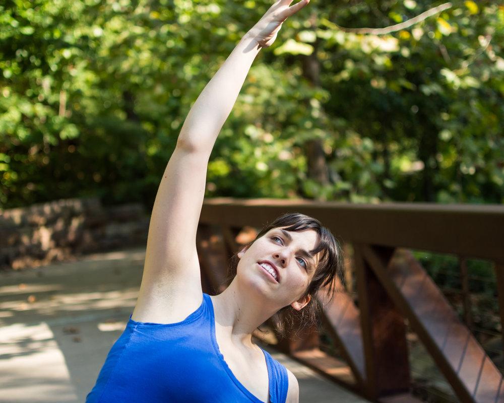 Annie Clapper Yoga Bentonville reach