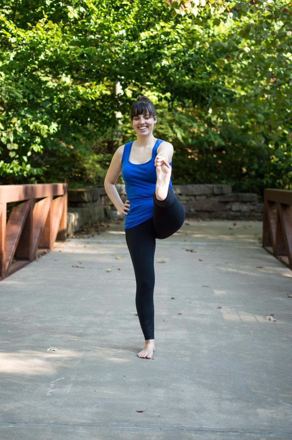 Annie Clapper Yoga Bentonville stretch