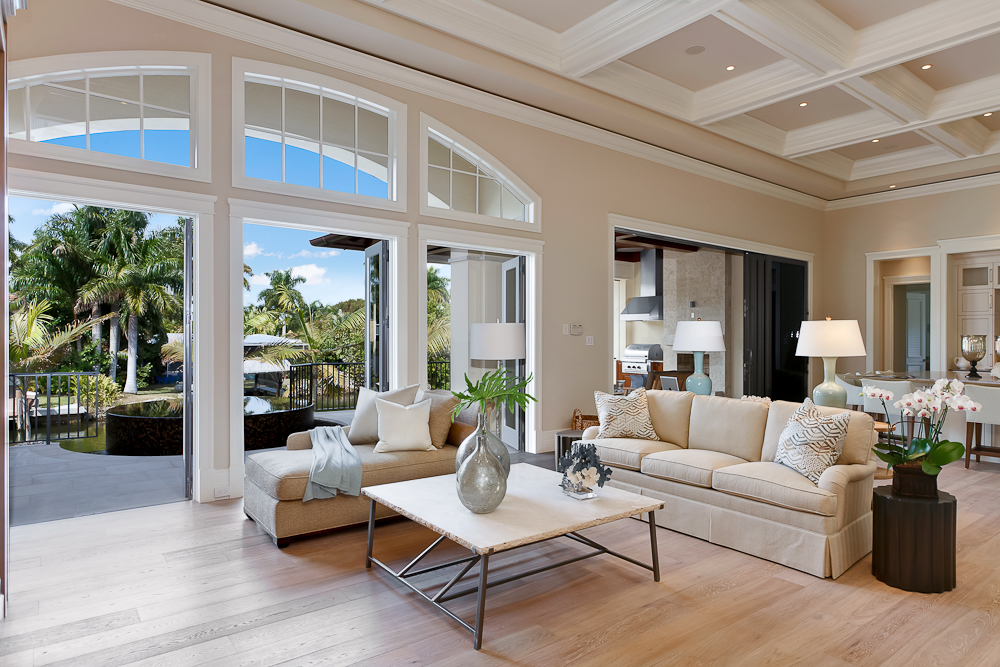 5 - Naples Boater's Dream - Elegant Great Room with French Doors to Pool Deck.jpg