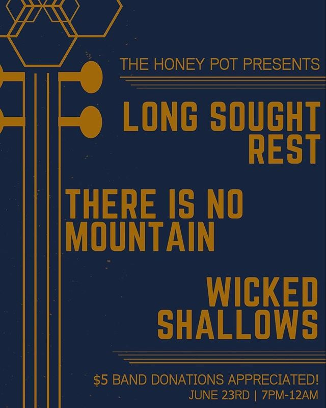 Hey friends, we are coming out of hiding for a kick ass house show at the end of the month! Check it!  #thehoneypot #music #venue #livemusic #instamusic #localmusic #localartist #gig #band #supportlivemusic #musician #thereisnomountain #savethebees #longsoughtrest #diyordie #pdx #thehoneypotpresents #wickedshallows