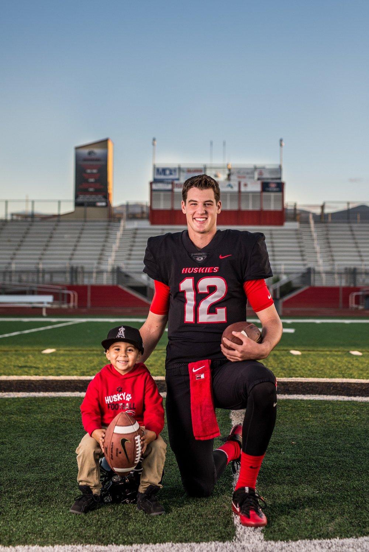 Tanner & his #1 fan, our grandson Gavin