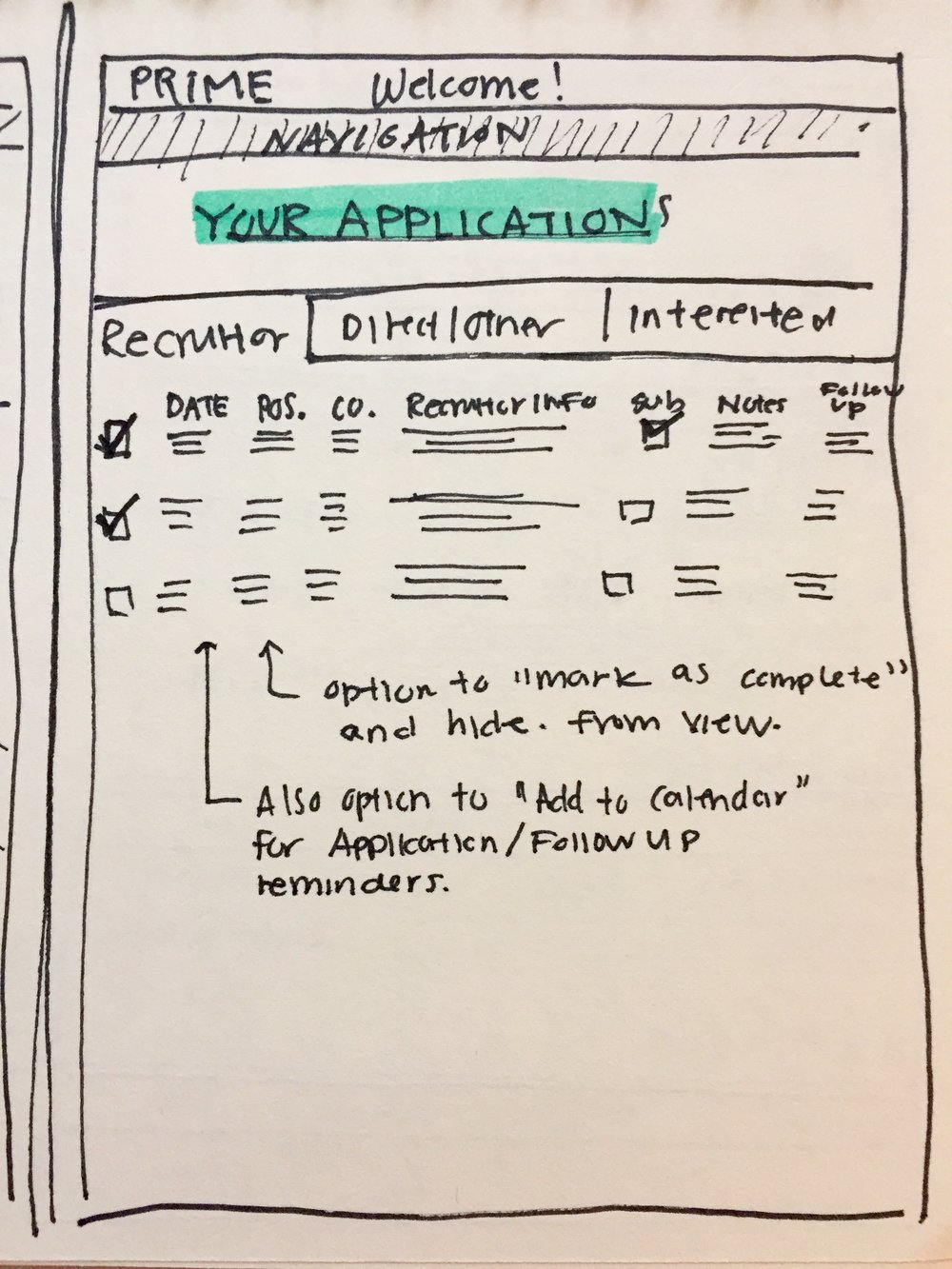 """Your Applications"" Page (Student)"