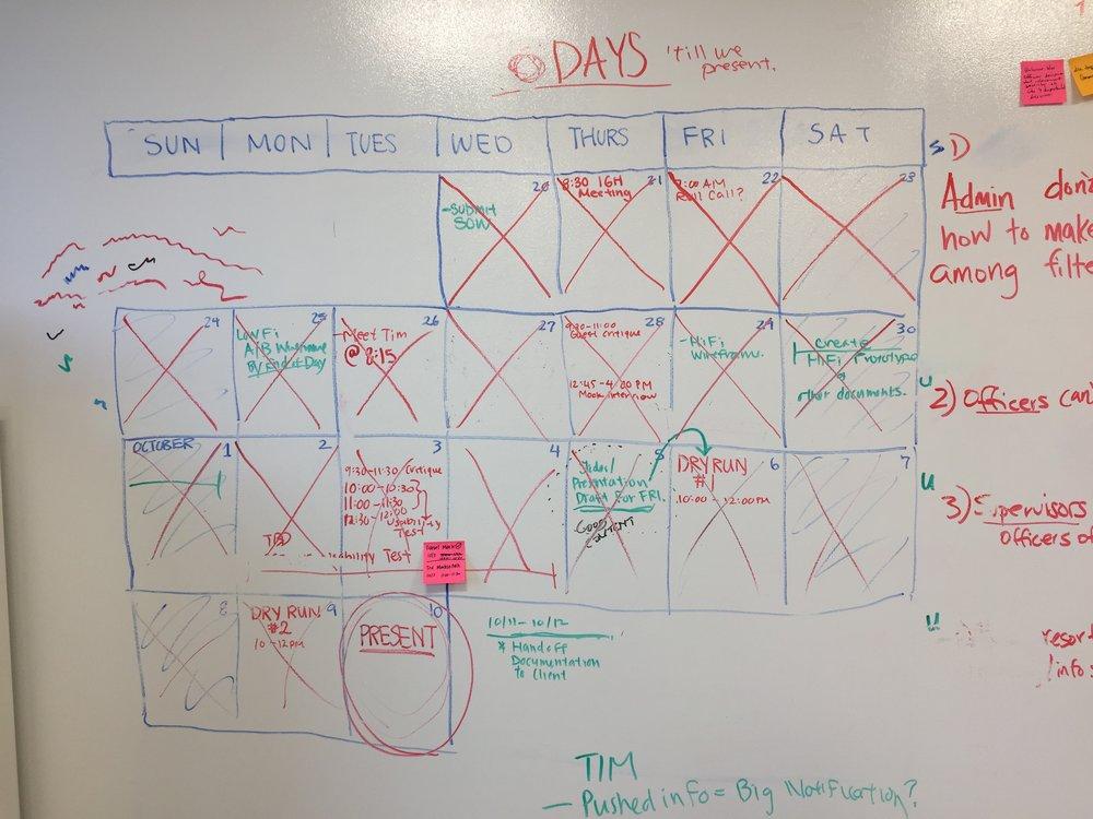 Team calendar.