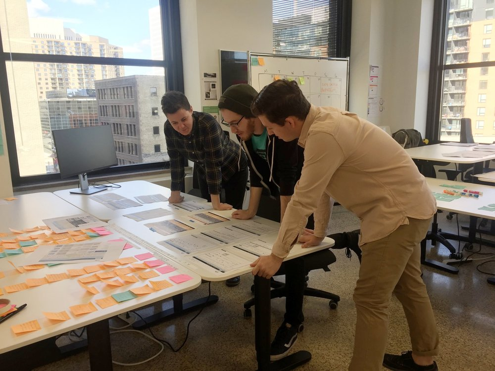 Team critique session
