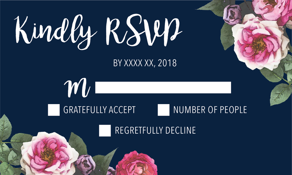 RSVP card (in progress)