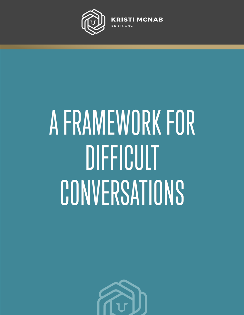 free guide - 4 step framework for tough talks