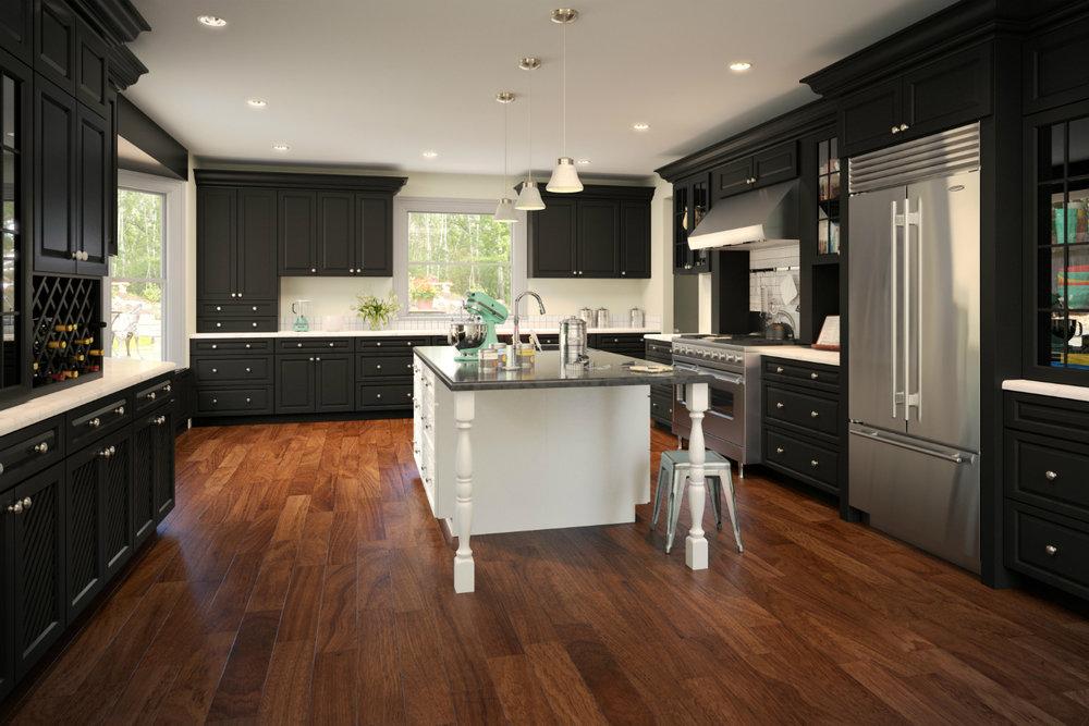Forevermark Downtown Dark Cabinets Dark Kitchen Cabinets With