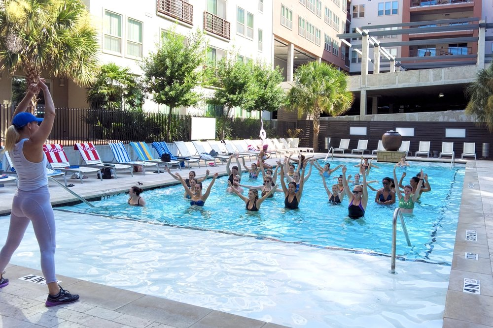 Water Aerobics at the Gallery at Turtle Creek   8.4.18