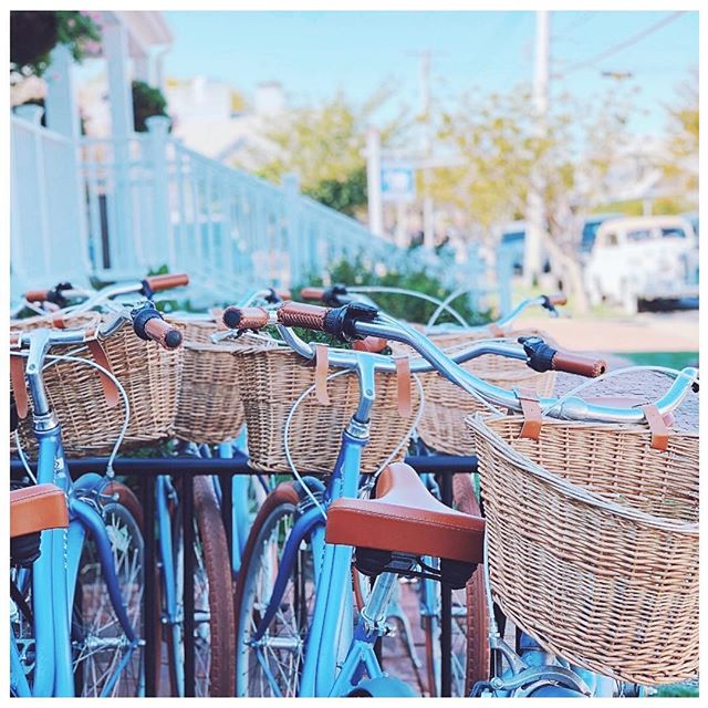 Nantucket is the quintessiential place to ride a cruiser around town or to the beach! - Immediately after stepping off the boat and onto the island, you can instantly feel the beach bike vibes! And the island is the perfect size to get around by bike while allowing you to enjoy the sea breeze and scenery! - Casual biking and baskets are both so popular that Nantucket even has its own  company known as @nantucketbikebaskets that you can order for you own bike at home! - There's multiple places around town to rent bikes from Young's Bicycle Shop to Island Bike Company to Nantucket Bike Shop. Alternatively, if you're staying at a hotel, chances are pretty high that they will have bikes to use for hotel guests! - You can even take bike tours! Nantucket Bike Tours takes you around town, to Cisco Brewery, to Sconset or on a ride with a Sunset view! Or you can check out Nantucket Bike Paths for an extensive breakdown of all the bike paths around the island!