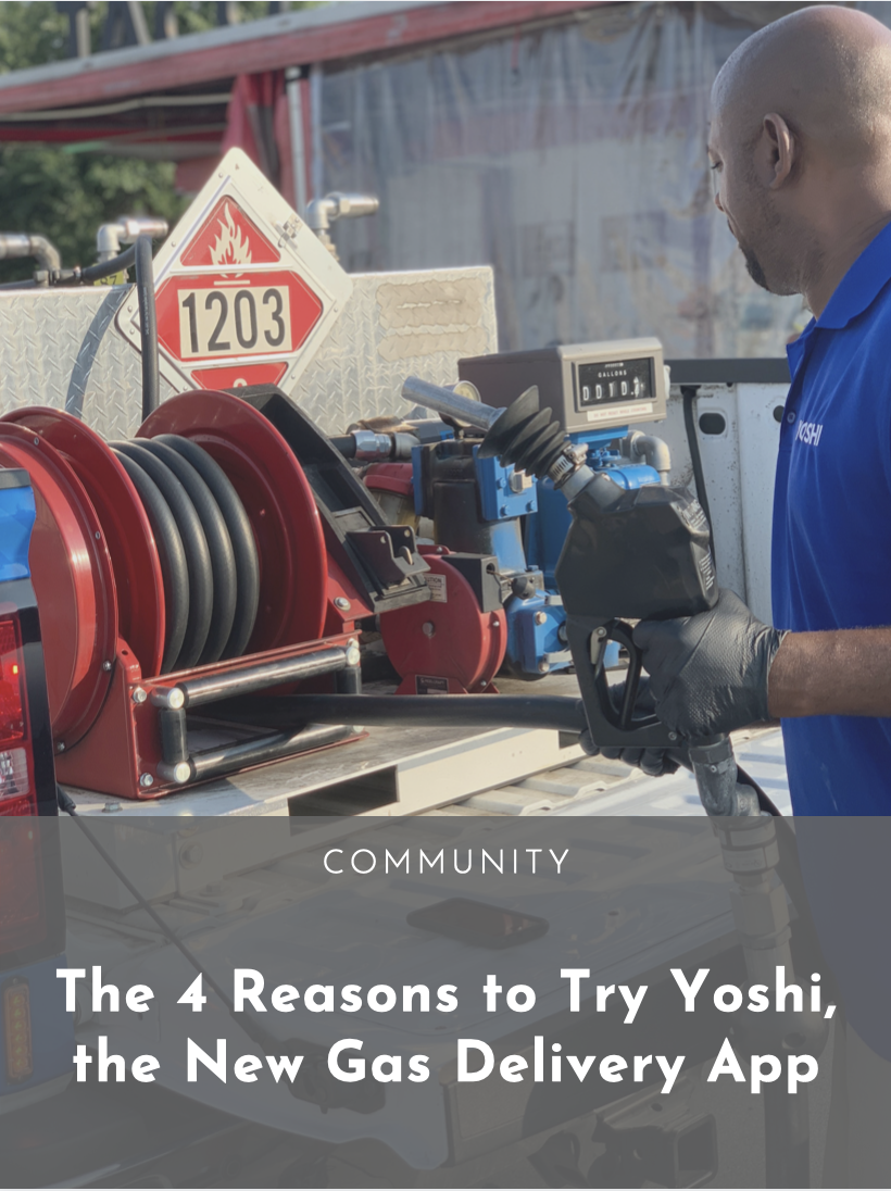 The 4 Reasons To Try Yoshi The New Gas Delivery App Dallasites101