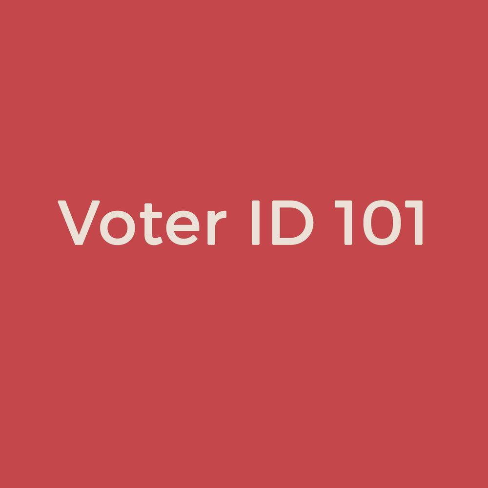 Voter ID 101