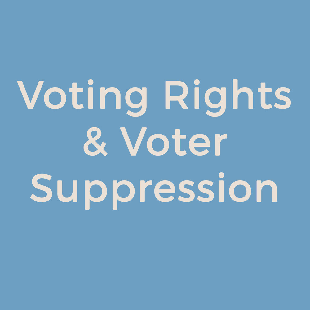 Voting Rights and Voter Suppression