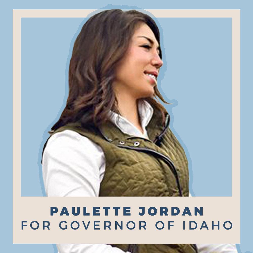 Paulette Jordan for Governor of Idaho