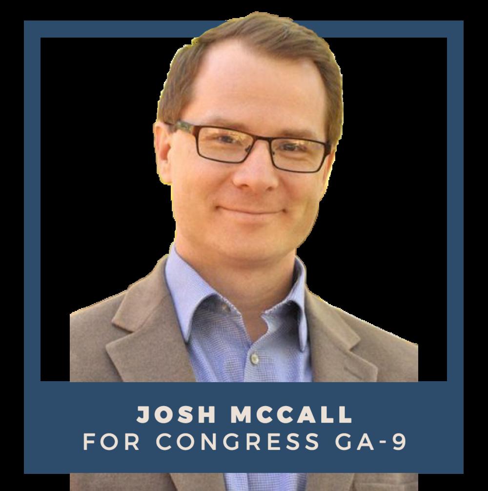 Indivisible endorses Josh McCall for Congress (GA-9)