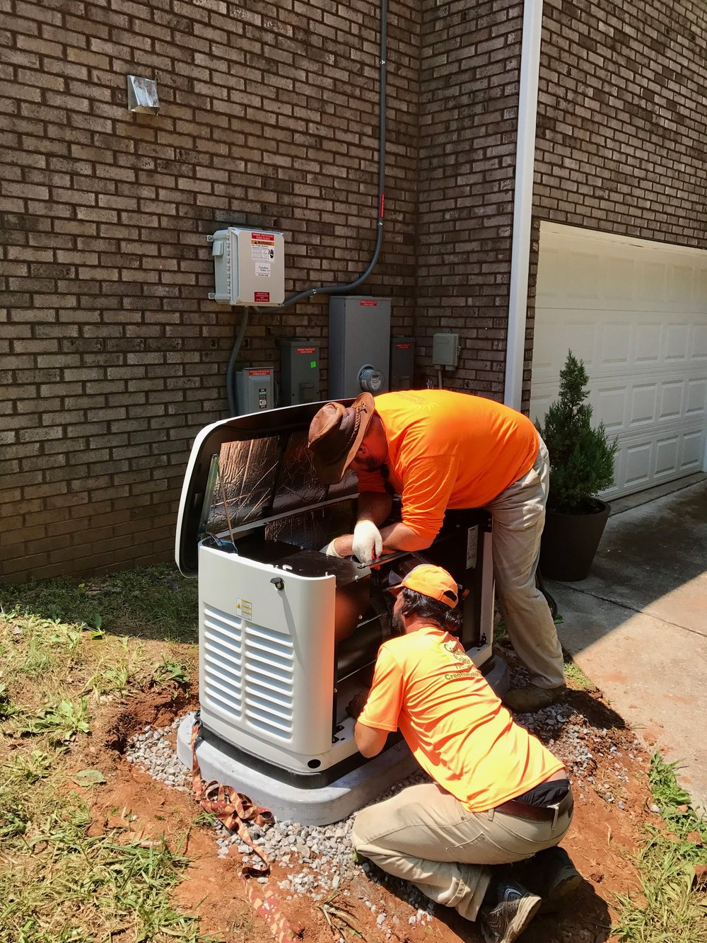 Residential Generac Back-up Generator Install