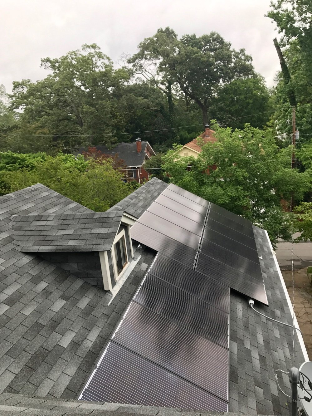 Residential Solar Array Roof Installation