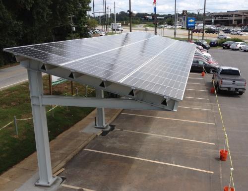 Jim Ellis Chevrolet Solar Canopy