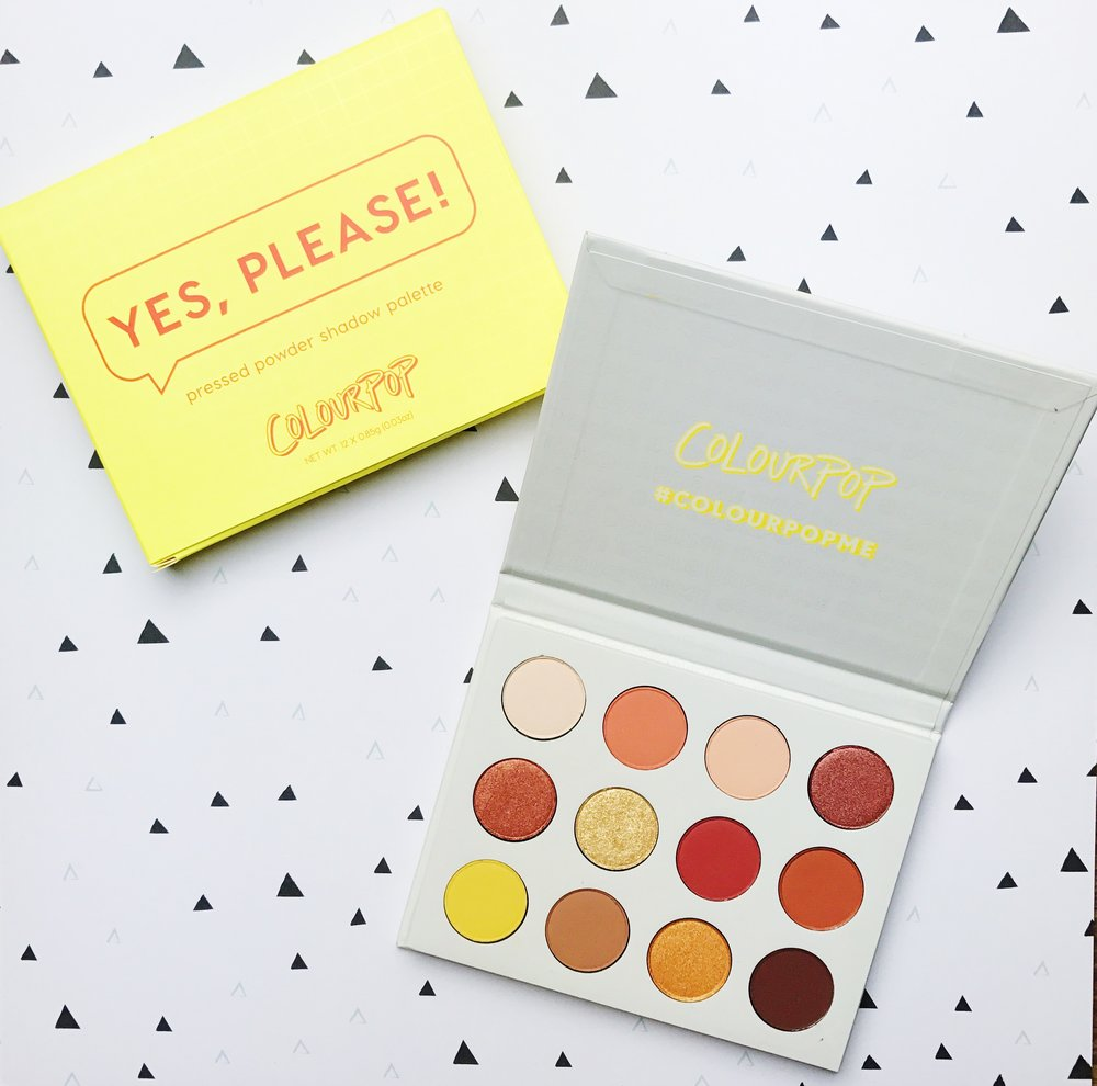 Colourpop Yes Please Eyeshadow Palette Slumber Party Beauty Giveaway
