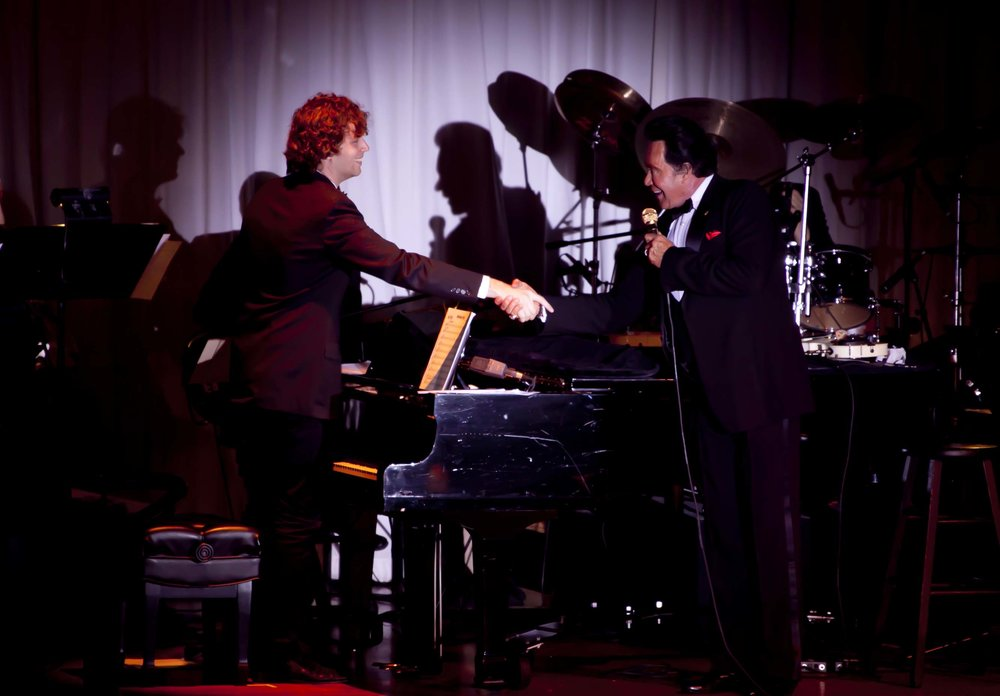 Dr. Joel Pierson with musician Wayne Newton