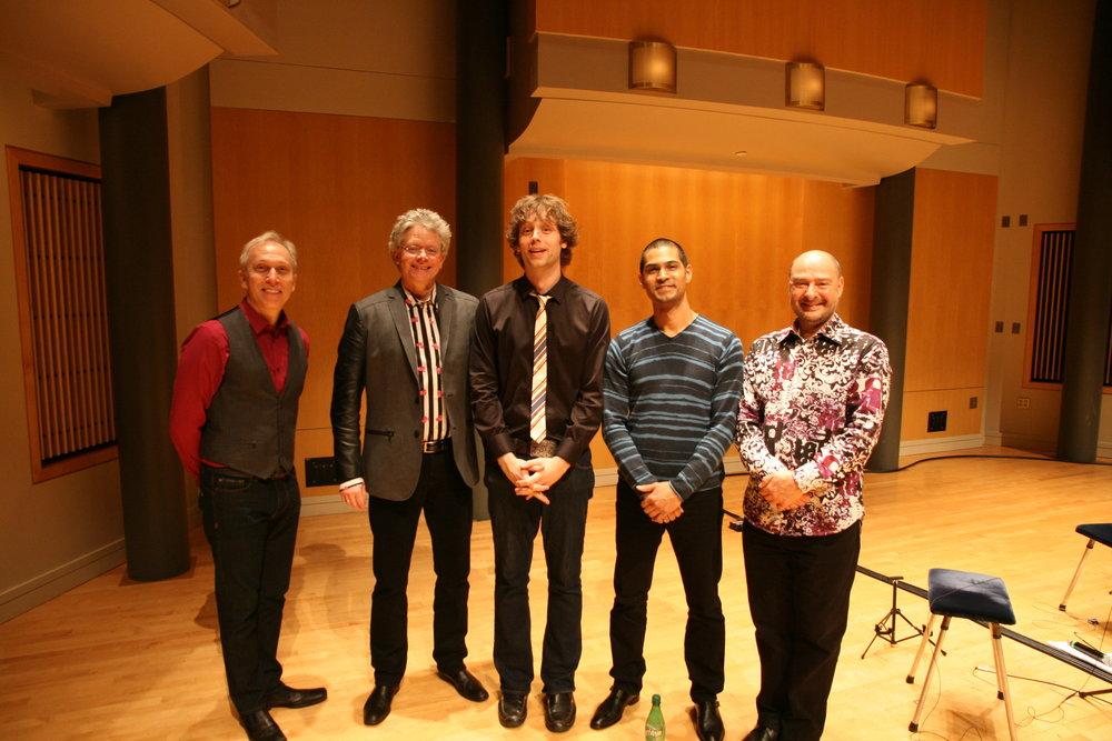Dr. Joel Pierson with the Kronos Quartet