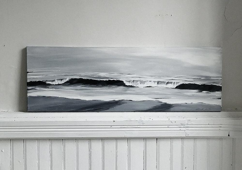 paradise, 12x36 acrylic on canvas