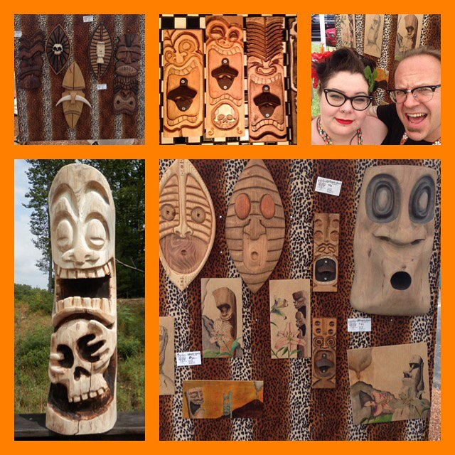 Zombie Oasis - Zombie Oasis Tikis hail New Hampshire. Gus is a master carver and one heck of a kick ass artist. These tikis are incredible and will be amazing gifts for yourself or for loved ones this holiday season.
