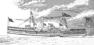 Engraving of the  General Slocum  by Samuel Ward Stanton (1895)