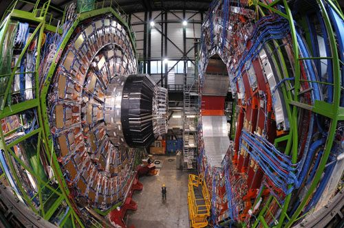 Compact Muon Solenoid detector. Photo credit: CERN