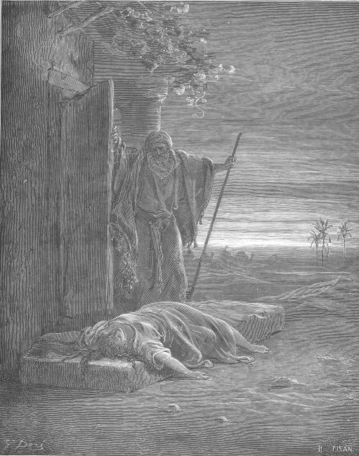 "Gustave Doré, ""The Levite Finding the Corpse of the Woman"""