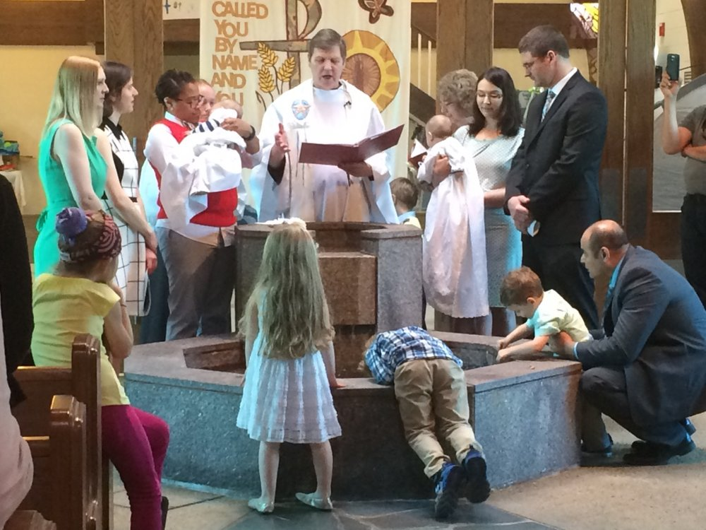 A baptism at Trinity Lutheran Church in North Bethesda, Maryland