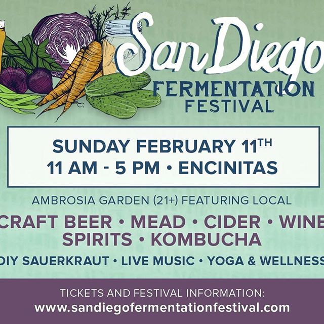 We're proud to support the fourth annual @sandiegofermentfest. It's a celebration of fermented foods and beverages, gut health, knowledge and community. Join Cultured Provisions this Sunday February 11 from 11a-5p in Encinitas. #SDFF2018 #vegancheese #cashewcheese #veganfood #craftbeer #diy #fermented #sauerkraut #kimchi #kombucha #community #sandiego #encinitas #guthealth #yoga #beer