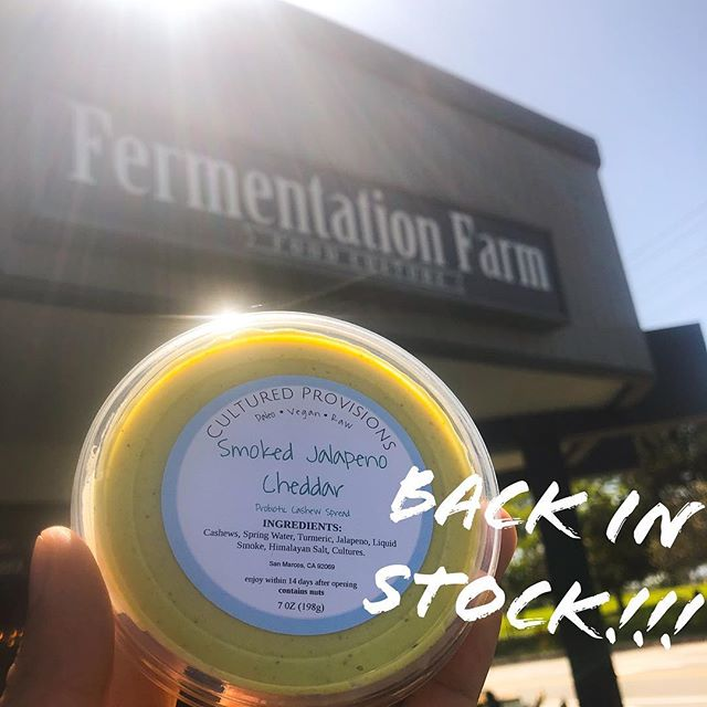 Back in stock @ferm.farm! They sell out fast so grab it while you can! 😉 #vegancheese #orangecountyvegan #costamesa #vegan #veganfood #culturedfood #probiotics #kombucha #fermentation