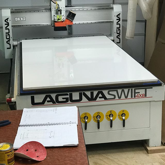 """Busy day on the automated cutting contraption or """"Hannibal"""" for short....will post what this sign actually is when the customer signs off on it - see what I did there 😂😂😂"""