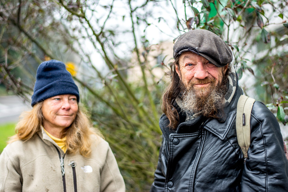 Hope for the homeless - wes fisher photography - portrait project - man in hat with wife.jpg
