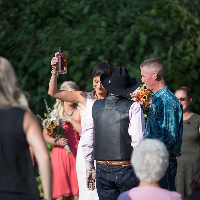 These are the impromptu moments that I love to capture at every wedding. Here the bride's grandfather approached the bride and groom with a bottle of @pendletonwhisky Pendleton to toast their extremely recent vows. I have a feeling it was more than a toast or a celebration though. To me it seemed and felt more like a promise. I could be wrong.