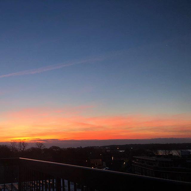 """Red sky in the morning, sailors take warning."" #blizzardonitsway #staywarm #nofilter"
