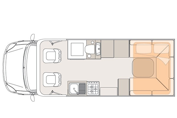 Unicampa 650 Rear Drop Bed layout.